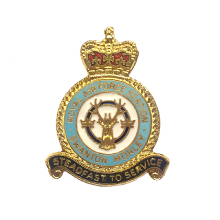 Royal Air Force RAF Station Swanton Morley Lapel Badge